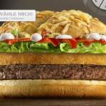 """Ich präsentiere den """"Mc Backpacker""""-Burger zur Stärkung nach einer längeren Pause!"""